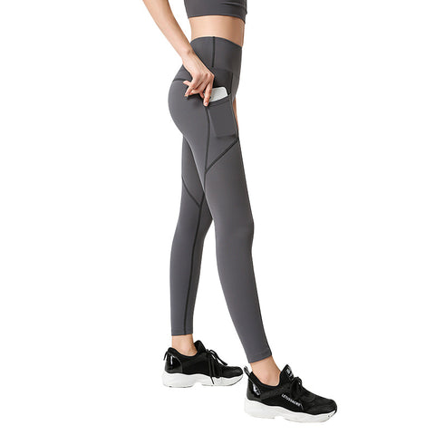 Yoga Pants Pocket Fitness Training Pants Quick-drying Tight Sports Trousers