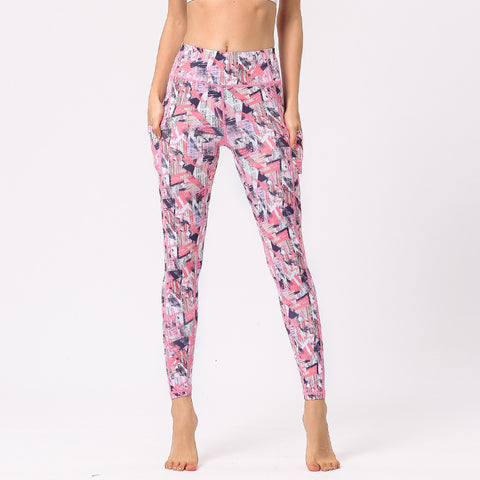 Camouflage Yoga Pants Digital Printed Hips High Waist Pants