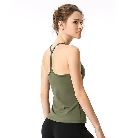 Sling Yoga Vest With Chest Pad Fitness Rrunning Sports Vest