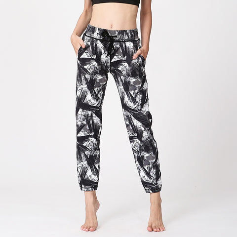 Printed Yoga Pants High Waist Loose Fitness Pants Quick-drying Breathable Pants