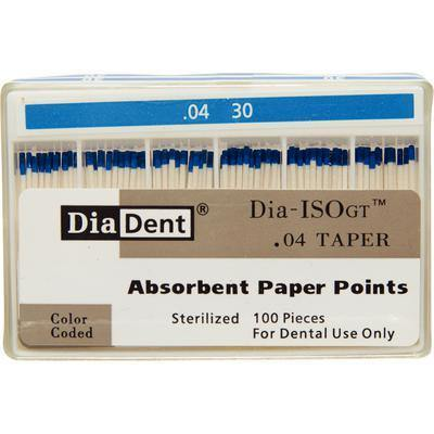 Dia-ISO GT™ Absorbent Paper Points – 0.04 Taper, ISO-GT, 100/Pkg