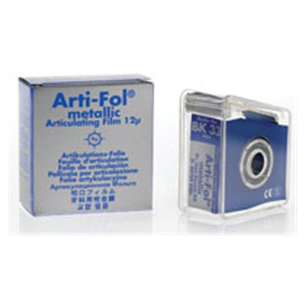 Bausch Arti-Fol Metallic - One-Sided Shimstock-Film, 12 microns, 22 mm x 20 m Roll