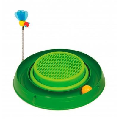 CATIT PLAY 3 IN 1 CIRCUIT BALL TOY W CAT GRASS PAD