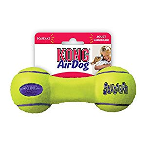 KONG AIR DOG SQUEAKER DUMBELL MEDIUM
