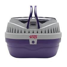 LW SMALL ANIMAL CARRIER SMALL PURPLE/GRY
