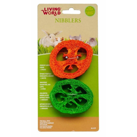 LIVING WORLD CRUNCHY CAPSICUM LOOFAH 2PK