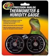 ZOOMED DUAL THERMOMETER/HUMIDITY GAUGE