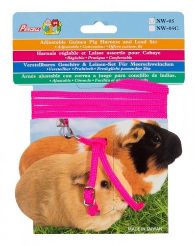 GUINEA PIG HARNESS & LEAD SET PINK