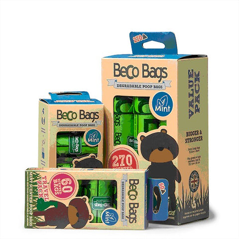 BECO POO BAGS 270PK PEPPERMINT ECO FRIENDLY