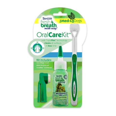 TROPICLEAN FRESH BREATH ORAL CARE KIT MED/LARGE