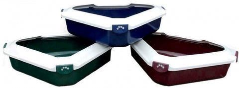 TRIANGULAR LITTER TRAY WITH RIM