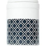 MOG & BONE CERAMIC TREATR CANNISTER NAVY IKAT 1.5L