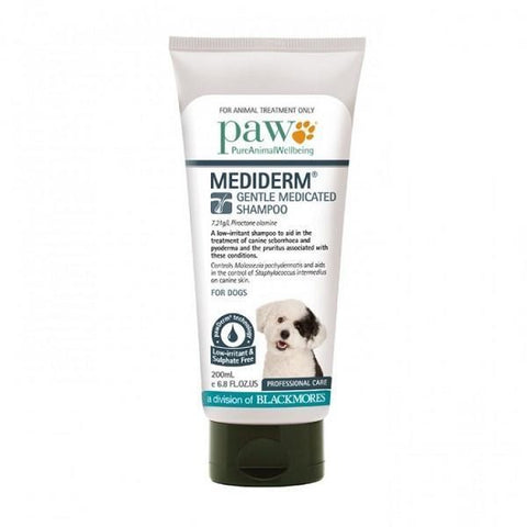 PAW MEDIDERM MEDICATED SHAMPOO 200ML
