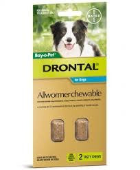 DRONTAL DOG ALLWORMER CHEWABLE 10KG 2
