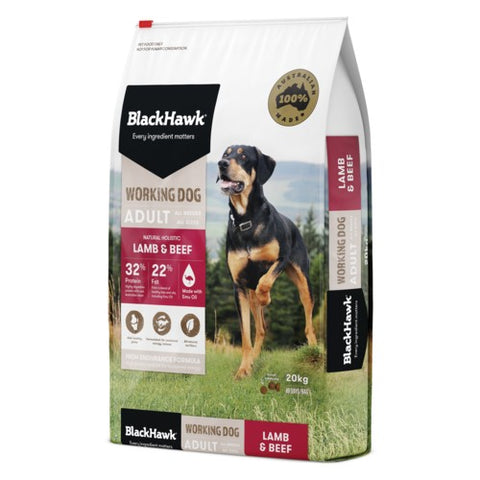 BH WORKING DOG LAMB/BEEF 20KG