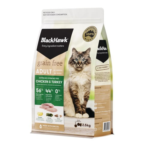 BH CAT GRAIN FREE CHICKEN & TURKEY 2.5KG