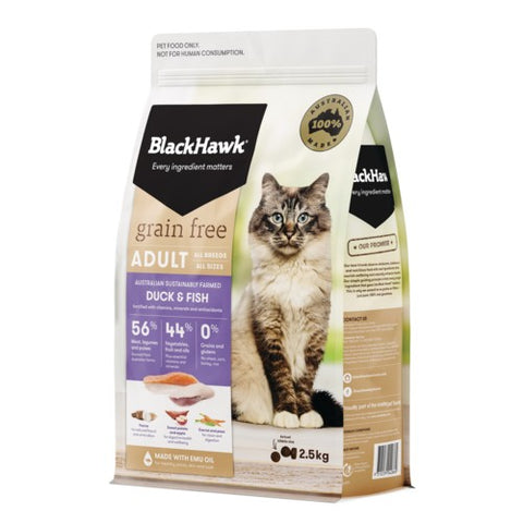 BH CAT GRAIN FREE DUCK & FISH 2.5KG