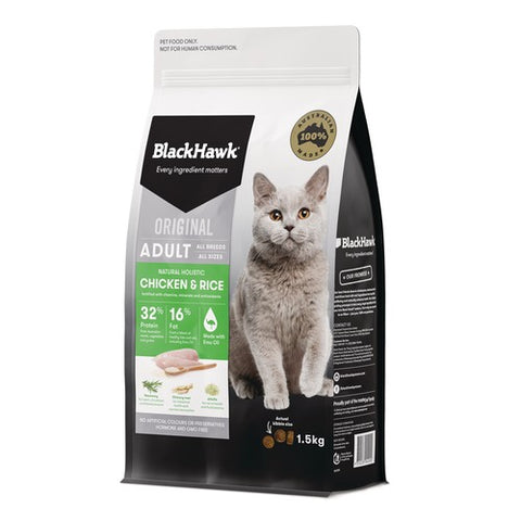 BH CAT CHICKEN & RICE 1.5KG