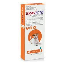 BRAVECTO DOG SPOT ON 250G 4.5-10KG ORANGE
