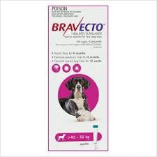 BRAVECTO DOG SPOT ON 1400MG 40-56KG PINK