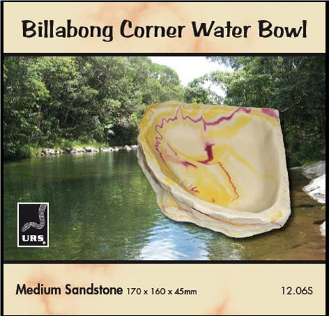 CORNER BOWL SANDSTONE MEDIUM 17*16*4.5CM
