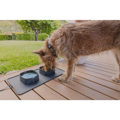 EZYDOG ROLL A BOWL PORTABLE DRINKING BOWL CHARCOAL