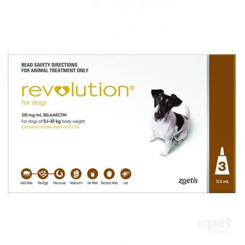 REVOLUTION DOG 5-10KG BROWN 3'S