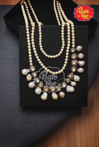 Pearl and Polki Necklace