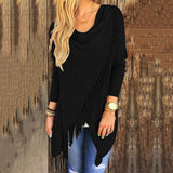 Knitted Tassel Cloak Cardigan Sweater