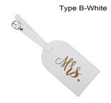 Mr. & Mrs. Leather Luggage Tag