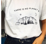 There Is No Planet B Women's Oversized Graphic T-Shirt