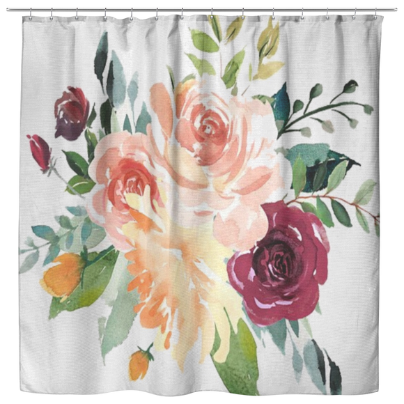 One of a Kind Floral Shower Curtain