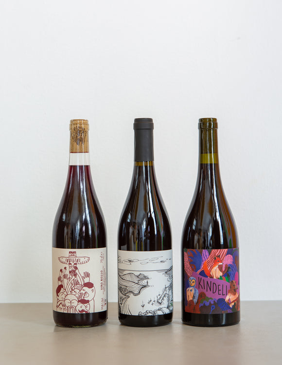 Red Natural WINE PACK / New Zealand, France & Spain / 3 Bottles