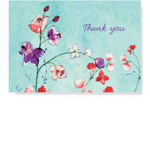 Load image into Gallery viewer, Fuchsia Blooms Thank You Note Cards
