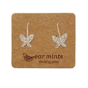 Butterfly Cubic Earring Gold