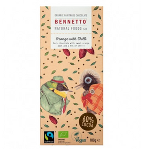 Bennetto Organic Chocolate100g Orange with Chilli