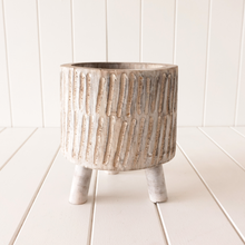 Load image into Gallery viewer, Timber Tokoriki Pot - White Wash Small