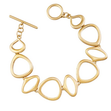 Load image into Gallery viewer, Odd Circle Fob Bracelet - Gold