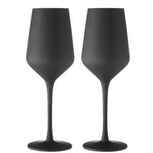 Aurora Matte Black 2pk Wine Glass