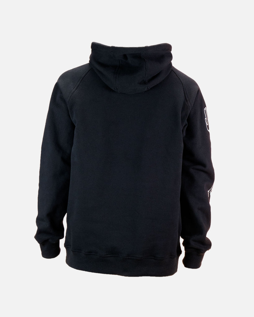 Bataleon Logo Hoodie Black Product image from the back by Bataleon Snowboards