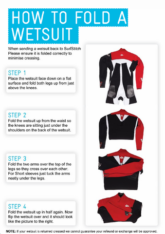 How to fold a wetsuit