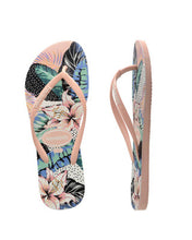 Load image into Gallery viewer, KIDS SLIM FLORAL DOTS BALLET THONGS