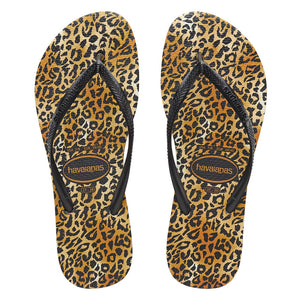 SLIM LEOPARD THONGS