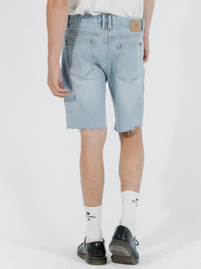 DESTROYED BONES DENIM SHORT