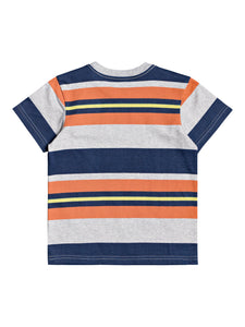 SPAT OUT STRIPE SS BOY TEE