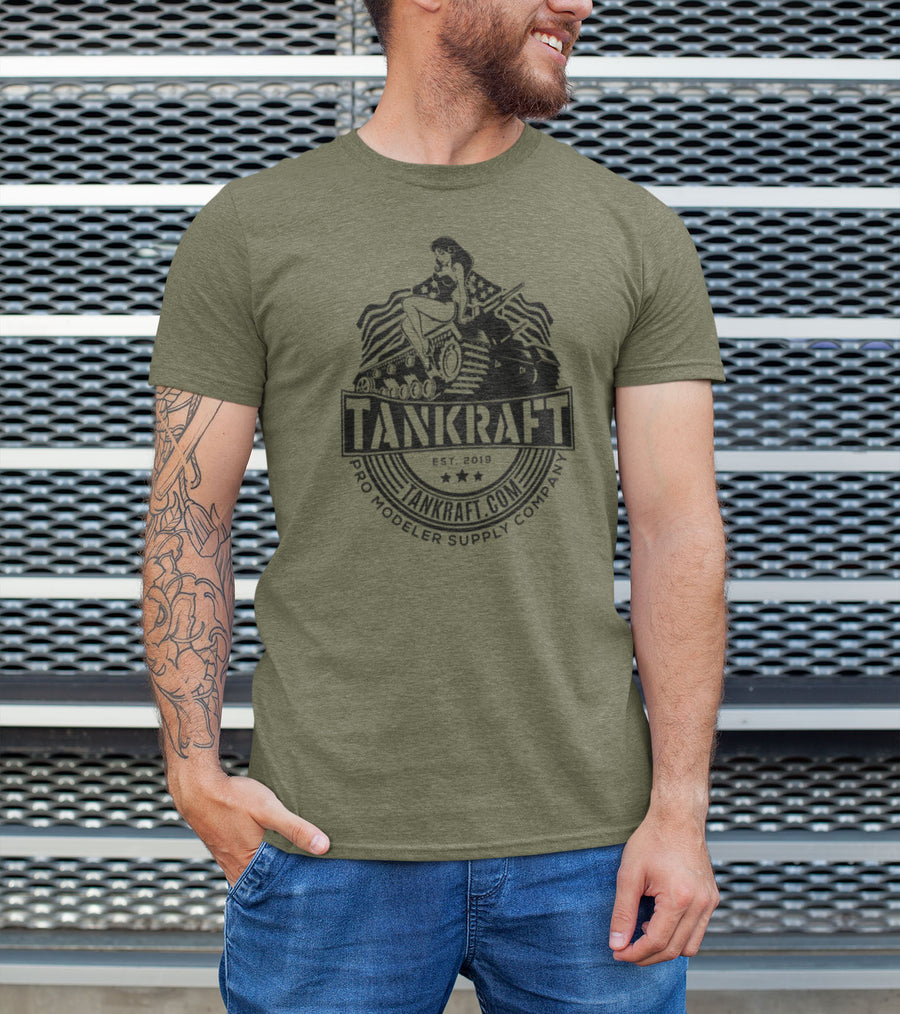 Olive Green Pin-Up Tee - Tankraft