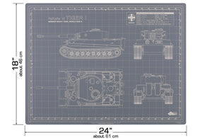 TIGER TANK MODEL BUILDER'S CUTTING MAT 18x24 - Tankraft
