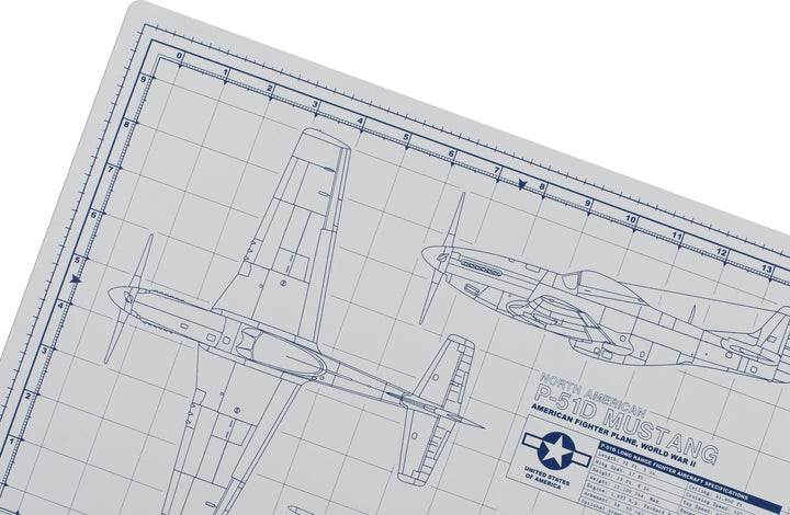 MUSTANG MODEL BUILDER'S CUTTING MAT 12x18 - Tankraft