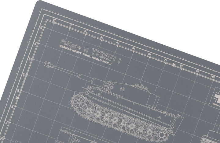 TIGER TANK MODEL BUILDER'S CUTTING MAT 12x18 - Tankraft
