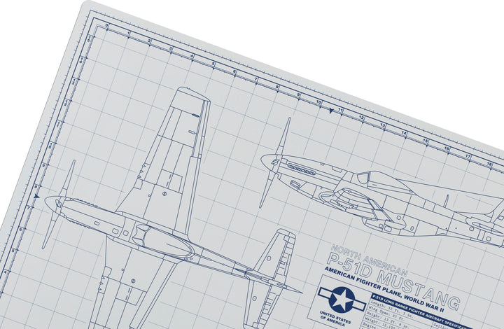 MUSTANG MODEL BUILDER'S CUTTING MAT 18x24 - Tankraft